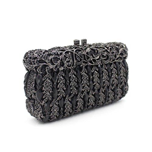 Frauen-Luxus-Diamant-Abendtasche Brauttasche Diamant-Handtasche Black