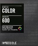 Impossible - 3553 - pellicule couleur pour Appareil Polaroid type P600 - cadre noir - 8 feuilles par boîte