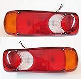 2x Rücklicht Recovery 12V 24V Beleuchtung Leuchtmittel für LKW Chassis Truck Trailer Caravan