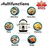 BMS Lifestyle Kitchen Master Electric Pasta and 6 Cup Rice Cooker with One Touch Control and Automatic Keep Warm Function (0.6 L) (Black)
