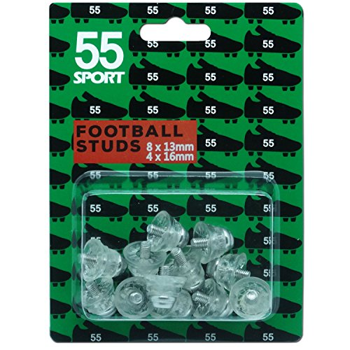 55 Sport Coppa del Mondo di calcio borchie, Clear, 12x13 mm + 4x16 mm