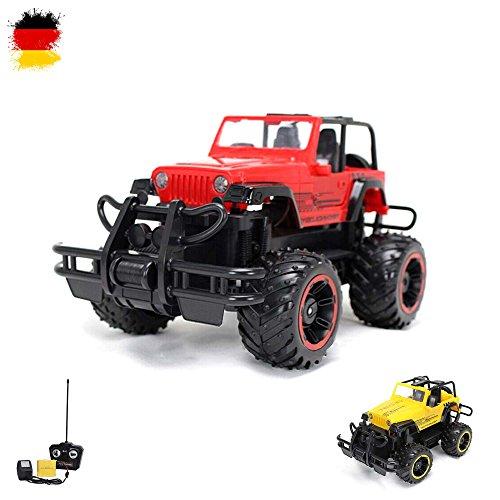 1:16 Off-Road RC ferngesteuerter Geländewagen, Auto, Fahrzeug, Jeep Truck Modell, Komplett-Set inkl. Fernbedienung, Akku und - Monster-lkw-spielzeug Mädchen,
