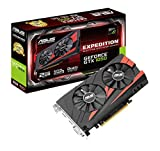 Asus Expedition GeForce GTX1050-2G Gaming Grafikkarte (Nvidia, PCIe 3.0, 2GB DDR5 Speicher, HDMI, DVI, DisplayPort)