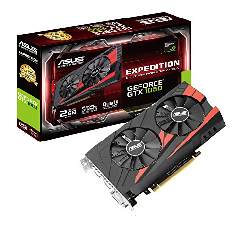 ASUS Expedition GeForce GTX1050-2G Gaming Grafikkarte (Nvidia, PCIe 3.0, 2GB DDR5 Speicher, HDMI, DVI, DisplayPort)