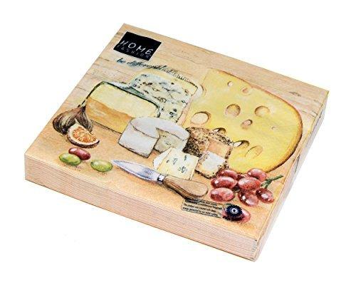Home Fashion Lunch Serviette Geschmack von Käse, 33x 33cm, Mehrfarbig, One Size