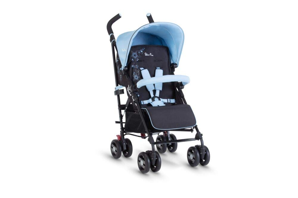 Silver Cross Pop Star Stroller, Compact and Lightweight Pushchair - Shooting Stars Silver Cross NEWBORN TO TODDLER: Suitable from birth up to toddlers (25kg), sitting upright to watch the world or reclining to a lie-flat position ADJUSTING AS THEY GROW: With a robust chassis, higher seat back and adjustable calf support your little one can keep comfortable and supported in the Pop Star Buggy as they grow LIGHTWEIGHT AND COMPACT: Quick and easy one-handed fold feature with a carry handle for ease positioned on the side of the all-black chassis 3