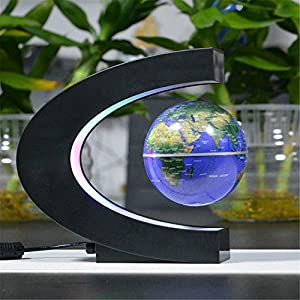fenrad C shape LED World Map Decoration Magnetic Levitation Floating Globe Light Lamp Home Desktop Decor from fenrad