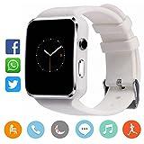 CanMixs CM03 Bluetooth Smart Watch Pulsera deportiva Soporte de SIM y tarjeta TF con cámara Sincronización de mensajes Compatible con IOS Android Xiaomi Samsung Sony Huawei Teléfonos