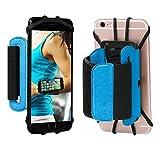 Sport Armband, 180 ° drehbarer Handy Halter Unterarm Running Radfahren Gym Jogging Armband für iPhone 4/5/6/7/7 Plus Samsung Galaxy S8 S7 S6 Edge Plus etc. (blau)