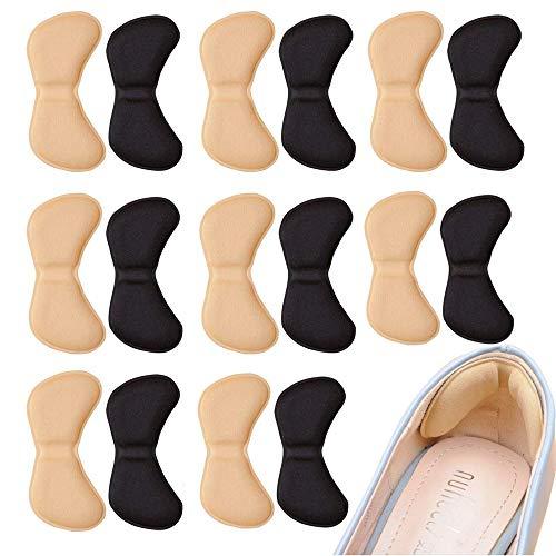 Ealicere 8 Paires Coussinets de Coussin de Talons Poignées à Talon Doublure Auto-Adhésif Semelles de Chaussure Protecteur de Soins des Pieds pour Ajustement et Confort Améliorés
