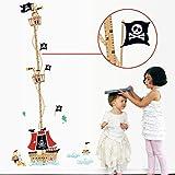 YESURPRISE Vinilo Decorativo Infantil Adhesivo Pegatina Pared Para Dormitorio Sala Decoración Hogar Medidor Infantil Piratas del Caribe