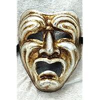 Bluemoon Venice - Máscara Veneciana - Volto Tragedia Silver