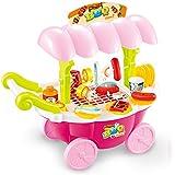 Barbacoa niño, WOLFBUSH Parrilla Mini Juguete Electrónico de Juego de La Imitación de Juguetes Educativos - Rosa