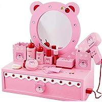 Preisvergleich für CMY Kinder, Kids, Holz Schminktisch, Spiegel Set mit Zubehör Pink