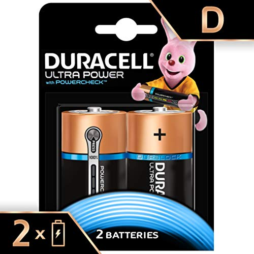 Duracell Ultra Power Typ D Alkaline Batterien, 2er Pack Duracell Coppertop 9v Batterien