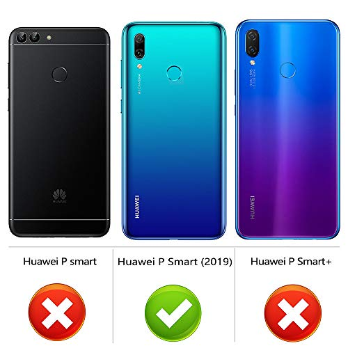 Peakally Coque Huawei P Smart 2019, Ultra Fine TPU Silicone Transparent Souple Housse Etui Coque pour Huawei P Smart 2019, Adhérence Parfaite/Anti Rayures/Anti-Scratch-Transparent