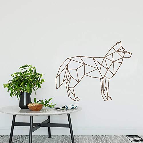 Adesivo per cani e gatti Adesivo da parete silhouette Cuore Adesivo non tossico Adesivo da parete per sala da toeletta Pet Shop106 * 84cm
