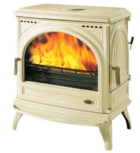 Godin - 366101sable - Poêle à bois fonte émaillé 12.5kw sable CARVIN