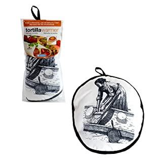 FoodWarmer 12 - Insulated Fabric Pouch - Keeps warm for one hour after just 45 microwave seconds (Lady) by The FoodWarmer Company