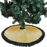 Weihnachten Baumdecke Weihnachtsbaum Deko Baumrock Christbaumständer Sackleinen Wohnaccessoires für Neujahr Urlaub Hausparty Xmas Deko, 60 90 106 127 152 cm