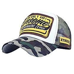 Winkey Women Men's Embroidery Baseball Cap Adjustable Mesh Snapback Hats Sunhat, Golf Caps