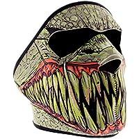 Máscara pasamontañas de motociclista, también para esquí, snowboard, paintball, actividades al aire libre, disfraces, etc., de neopreno, diseño de monstruo
