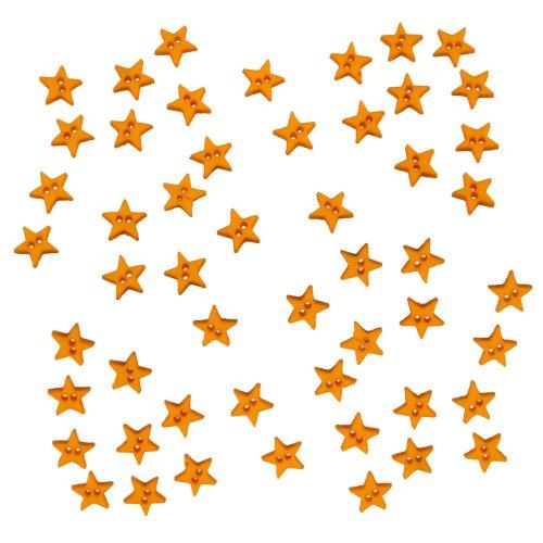 Vesti Micro-Mini pulsante abbellimenti 50/Pkg-stelle giallo