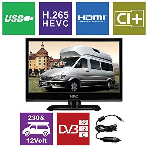 HKC 17H2: 43,9 cm (17 Zoll) LED-Fernseher (HD-Ready, Triple Tuner, CI+, Mediaplayer USB 2.0, 12V Kfz-Ladegerät) [Energieklasse A+]