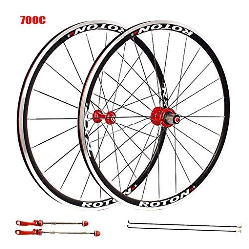 LSRRYD Räder 700C Rennrad Laufradsatz Tubular V-Brake 7 8 9 10 11 Geschwindigkeit (Color : A) -