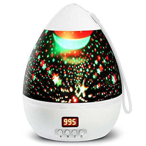 Lámparas Infantiles Proyector Estrella 360 Grados de Rotación con 4...