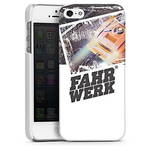 Apple iPhone 5s Housse Étui Protection Coque Châssis Véhicules Voiture CasDur blanc