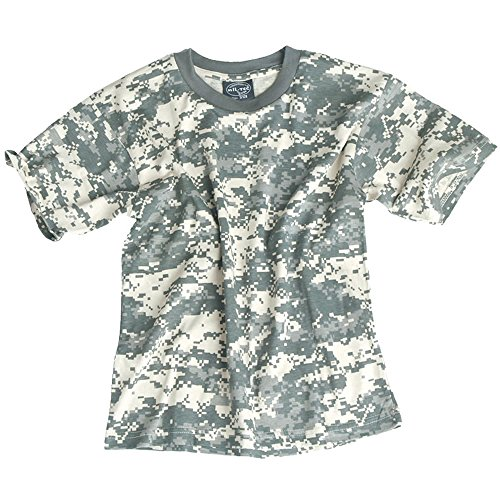 Famous Army Stores Jungen T-Shirt AT-Digital (T-shirt Woodland Kids Camouflage)
