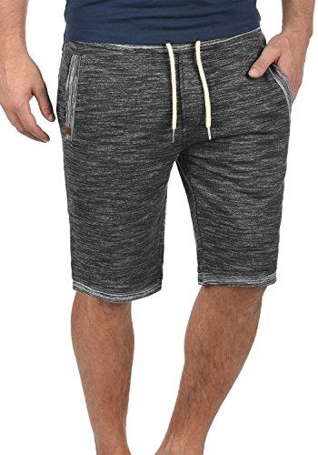 BLEND Buddy Herren Sweatshorts kurze Hose Sport-Shorts aus 100% Baumwolle, Größe:L, Farbe:Charcoal (70818) (Cargo-hose Baumwolle-charcoal)