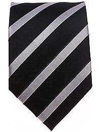 Seidenkrawatte Krawatte schwarz 8 cm breite verscheiden Modelle