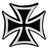 Biker Kreuz Backpatch Rückenaufnäher XXL ca. 19 x 19 cm