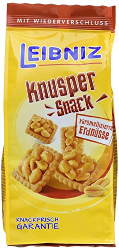 Leibniz Knusper Snack Karamelisierte Erdnüsse, 10er Pack (10 x 150 g)