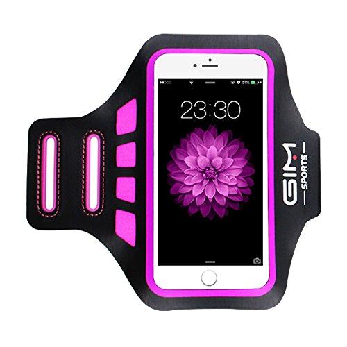 ICETEK Sportarmband universell Handy Armband Tasche passend für bis zu 6 Zoll Smartphone iPhone 8 Plus 7 Plus Samsung Galaxy S8 Mit Schlüsselhalter zum Joggen Laufen Gym Armtasche - Rosa