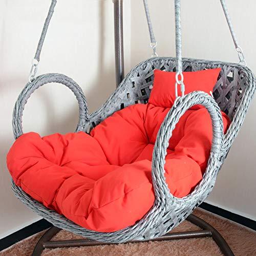 DULPLAY Hängesessel Swing,Für Indoor Outdoor Home Terrasse Deck Garten, Lesen Freizeit Anti-rutsch Seat Dämpfung-D 100x85cm(39x33inch) - Swing-deck