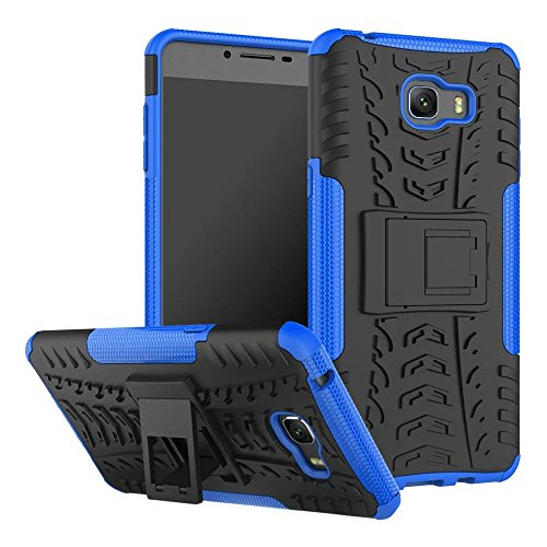 YHUISEN Galaxy C9 Pro Case, Hyun Pattern Dual Layer Hybrid Armor Kickstand 2 In 1 Shockproof Case Cover für Samsung Galaxy C9 Pro ( Color : Green ) Blue