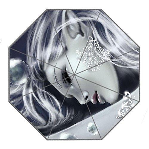 Importiert Klappbarer Regenschirm Diy Personalisierte Sexy Girl Design Tragbarer Reise-Regenschirm f¨¹r Sonne und Regen (Sexy Importiert)