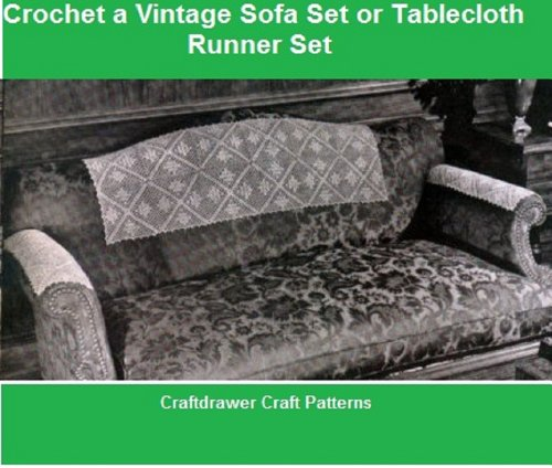 Crochet a Vintage Sofa Set Pattern - Crochet Motif Pattern for Sofa Head and Arm Rests (English Edition) Lace Arm