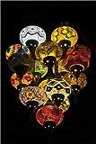 Impresión en madera 20 x 30 cm: Colorful lamps made of mosaic de Editors Choice