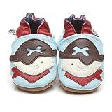 Suaves Zapatos De Cuero Del Bebé Pirata 6-12 meses