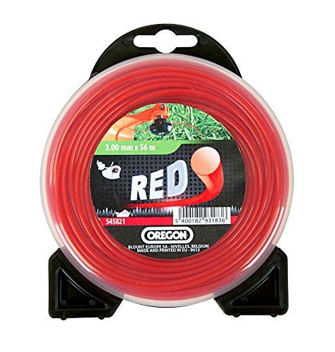 Oregon 552691 - Hilo de nylon alrededor de 2,7/12, rojo,