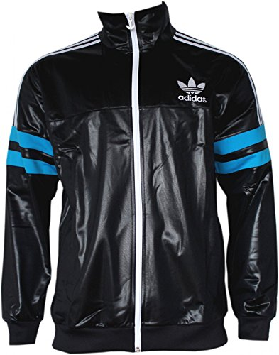 Adidas M Chile 62 TT2 Track Top Jacke Black / Solblue G90071