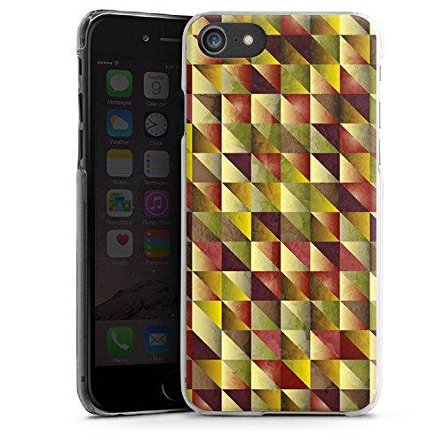 Apple iPhone X Silikon Hülle Case Schutzhülle Dreiecke Muster Abstrakt Hard Case transparent