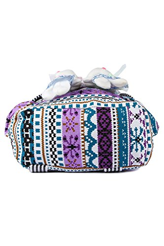 Trendifly New Stylish Bunny Backpack Bag for Women and College Girls Teddy Printed Multicolour Image 4