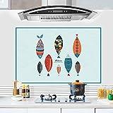 SMNCNL L'huile d'extraction de cuisine mural four haute température affiches restaurant salle de bains toilettes auto-adhésif imperméable