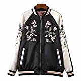 Speedeve Classics Stickerei beidseitig Damen Jacke Ladies Light Jacket embroidery double-sided (S, black-pink)