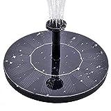 LATITOP Solar Springbrunnen Solar Teichpumpe Schwimmende Solar Brunnen, Solare Wasserpumpe für Garten, Vorgarten, Vogel, Bad, Teich, Wasser Kreis (1.4w)